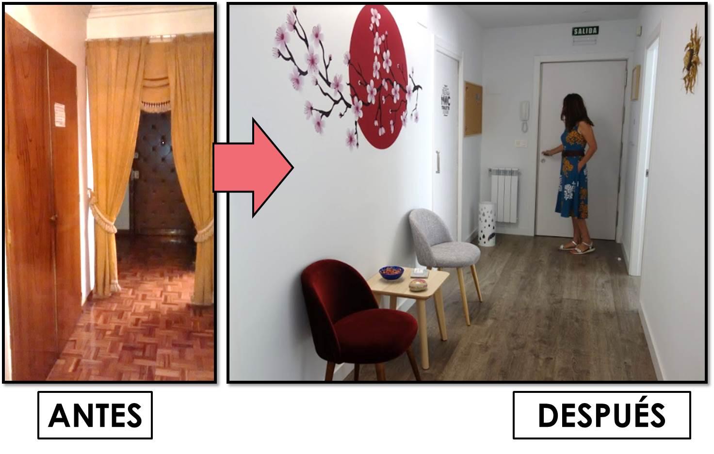 Antes y despues de una casa convertida 0