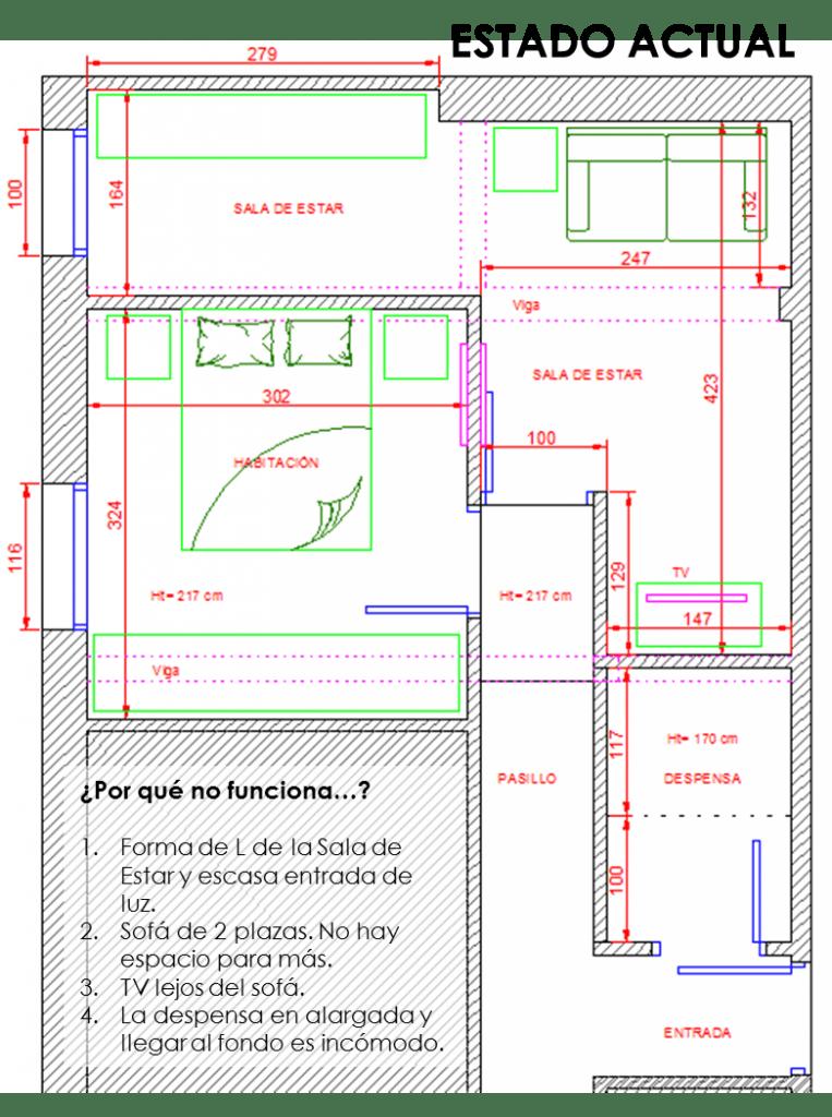 Cómo redistribuir la casa para conseguir una Sala de Estar cómoda 1