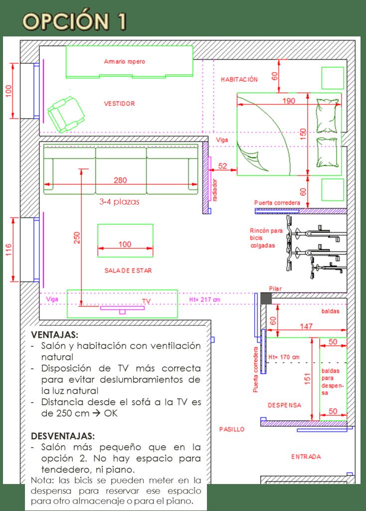 Cómo redistribuir la casa para conseguir una Sala de Estar cómoda 2