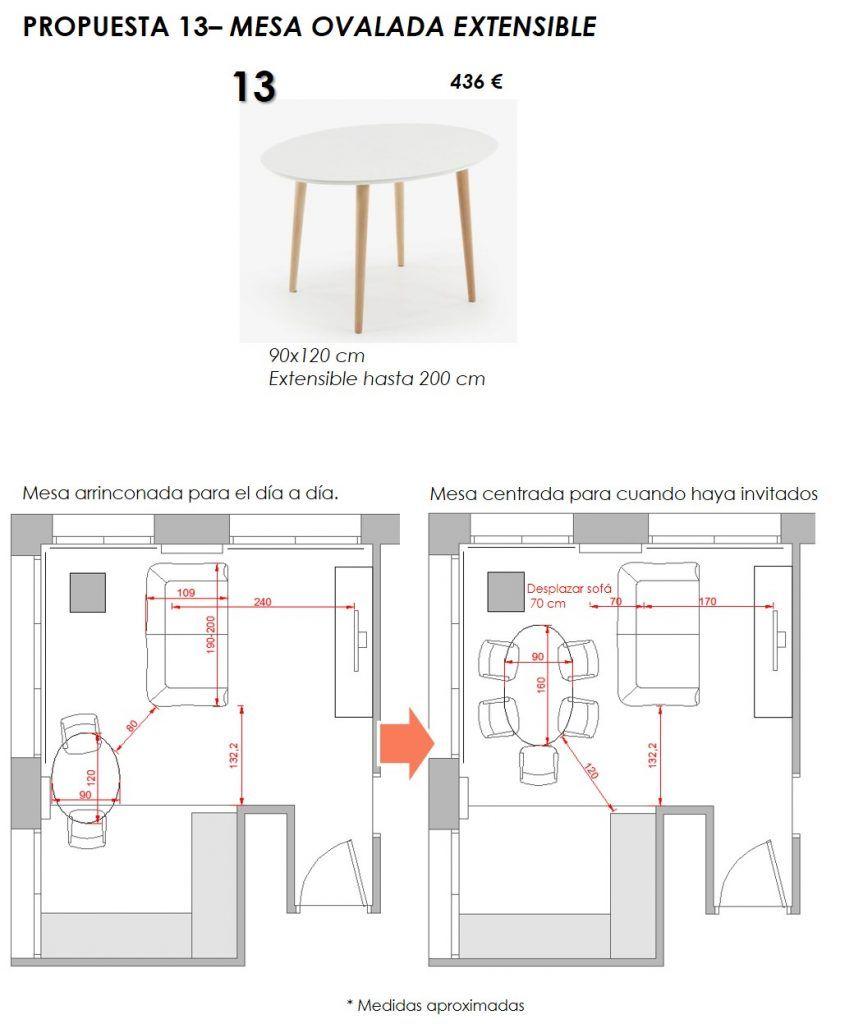 propuesta decorativa para recibidor, salón y cocina 10