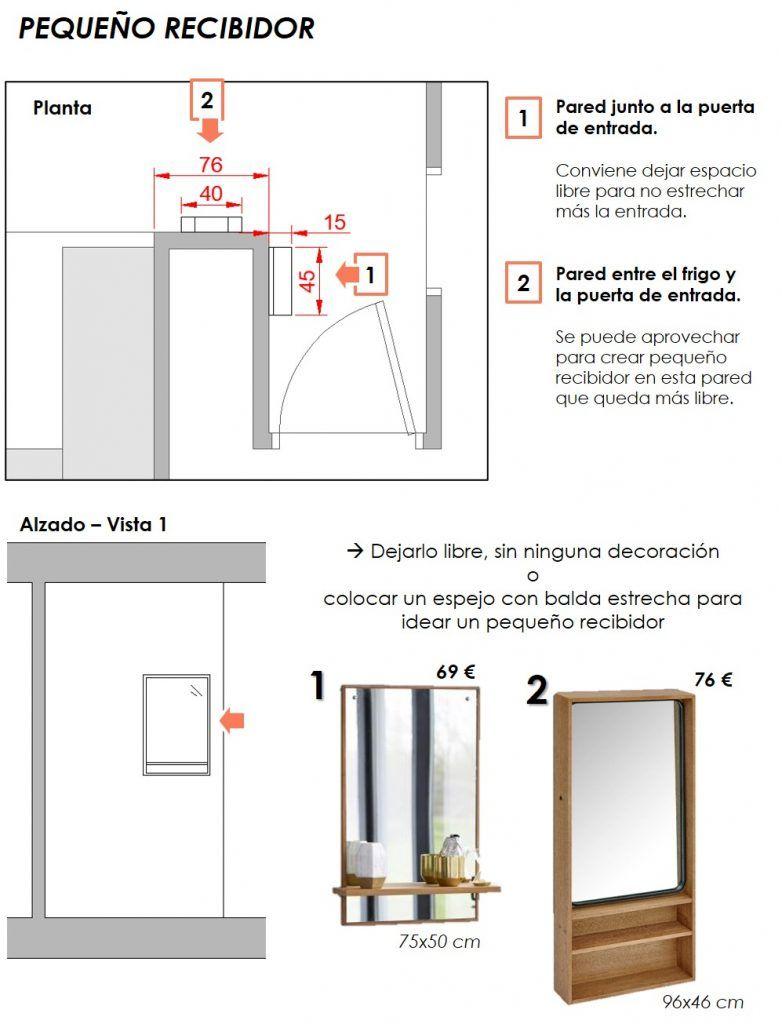 propuesta decorativa para recibidor, salón y cocina 11