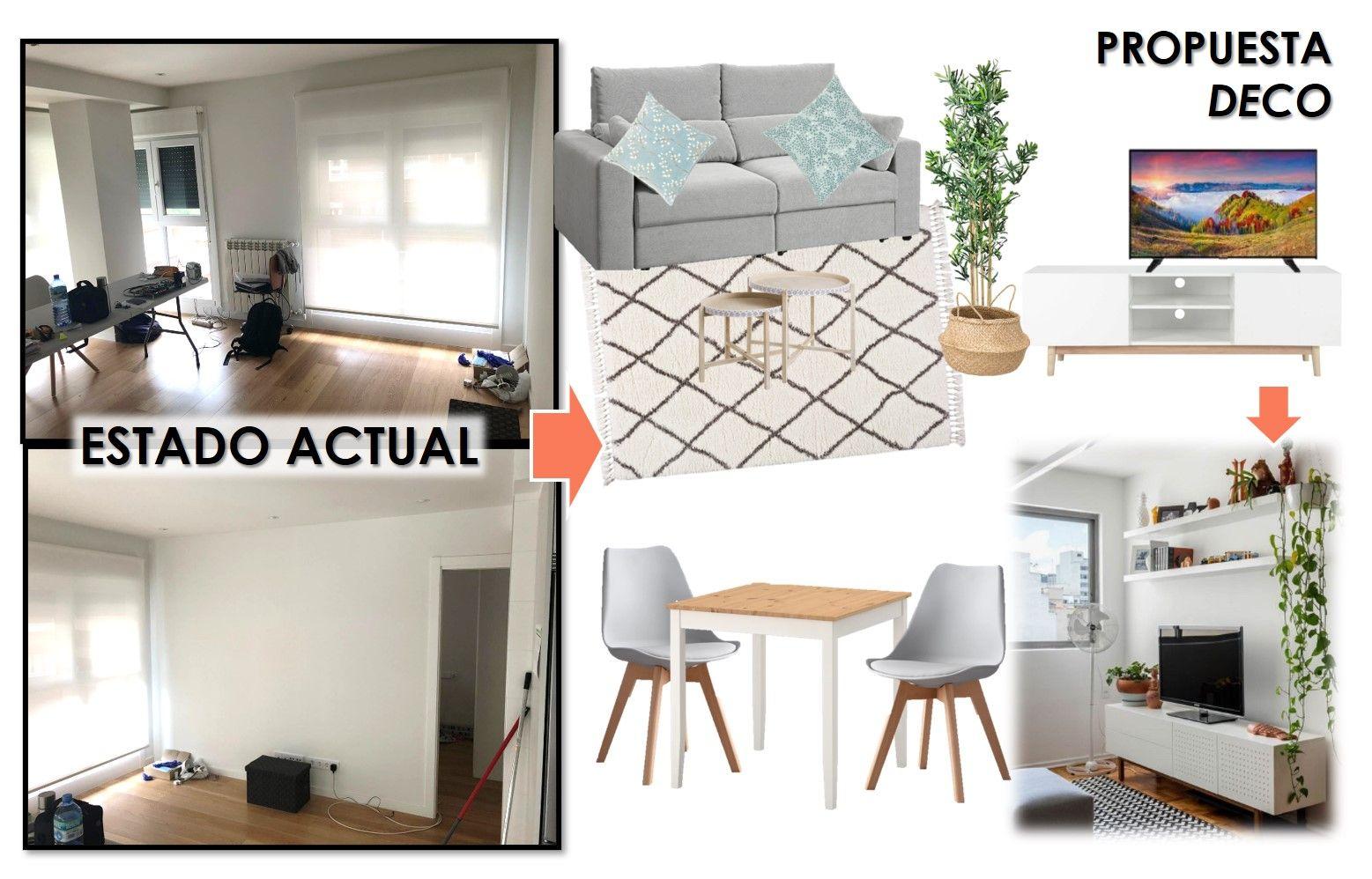 propuesta decorativa para recibidor, salón y cocina 16