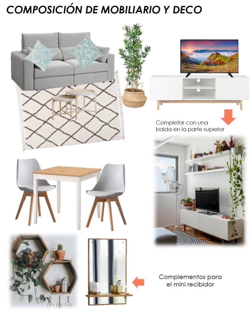 propuesta decorativa para recibidor, salón y cocina 4