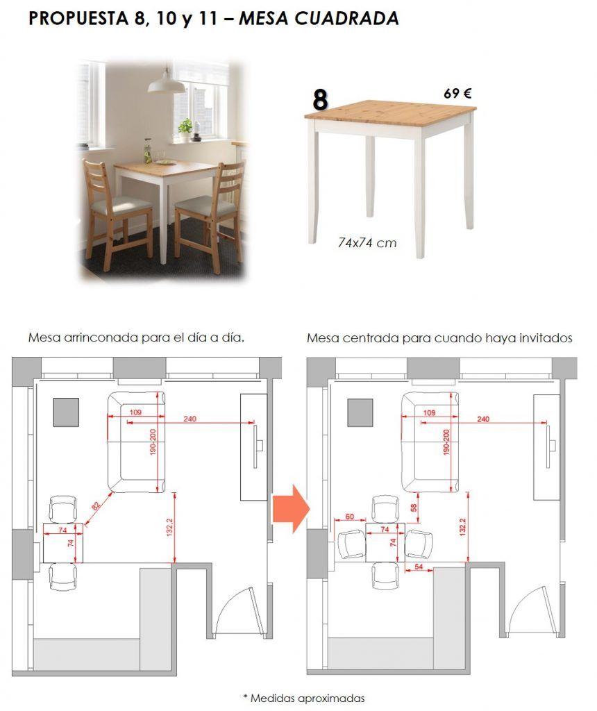 propuesta decorativa para recibidor, salón y cocina 7