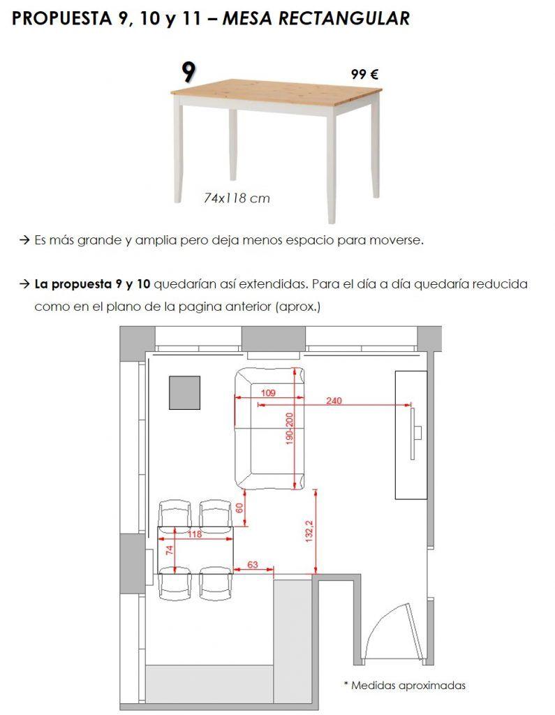 propuesta decorativa para recibidor, salón y cocina 8
