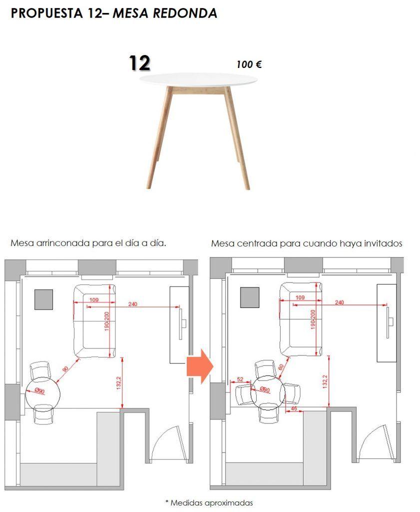 propuesta decorativa para recibidor, salón y cocina 9