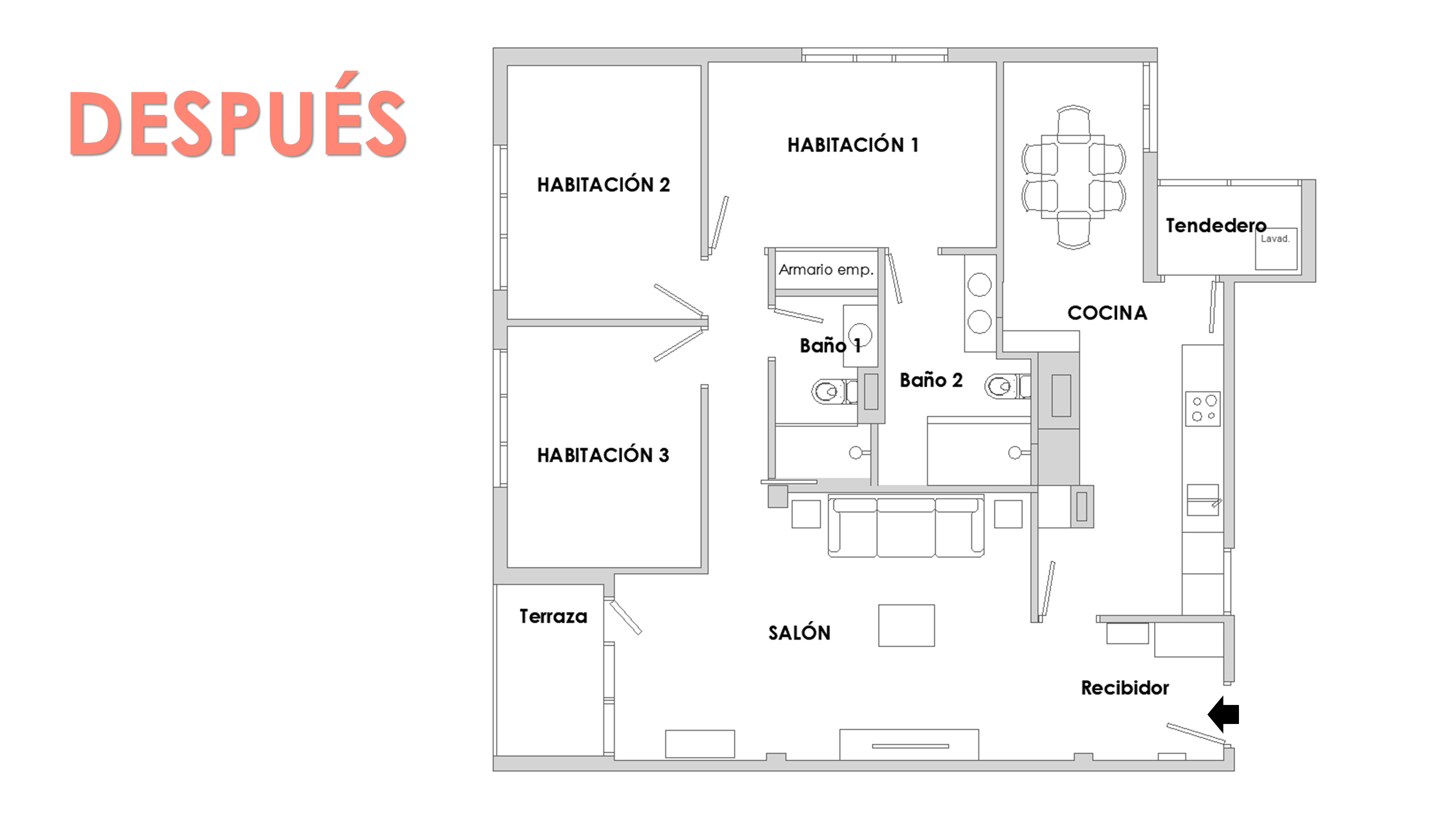 cómo distribuir una casa 3