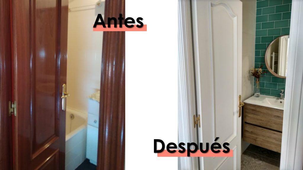 El antes y después del baño pequeño 2