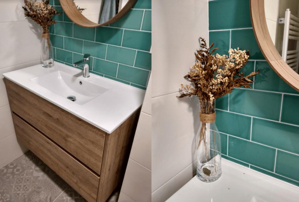 El antes y después del baño pequeño 4
